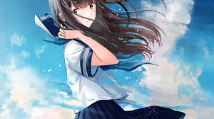 Anime Anime Girls Original Characters Sailor Uniform School Uniform Kazuharukina Kazuharu Kina Artwo 1792x1792 Wallpaper