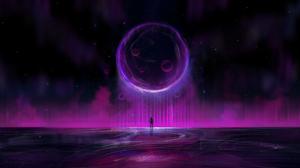 Sphere Digital Art Space Universe Stars Astronaut 2484x1200 Wallpaper