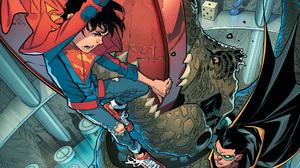 Boy Dc Comics Damian Wayne Jon Kent Robin Dc Comics Super Sons Superboy 1920x1080 Wallpaper