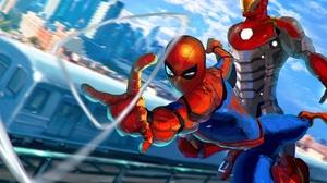 Spider Man Iron Man Marvel Comics 2047x1401 Wallpaper
