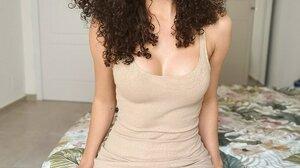 Bambi Two Brunette Green Eyes Looking At Viewer Curly Hair Adoring Gaze Women 1200x1600 Wallpaper