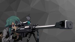 Sinon Sword Art Online Asada Shino Sword Art Online Hecate Ii Sniper Rifle Anime Girls 7924x4457 Wallpaper