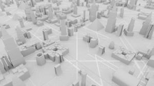 CG Digital Art Digital Abstract 3D Abstract Futuristic City Hologram 3840x2160 Wallpaper