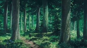Studio Ghibli Forest Clearing Forest Landscape Oak Nature 3840x2160 Wallpaper