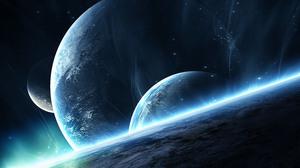 Sci Fi Planets 3000x2000 Wallpaper