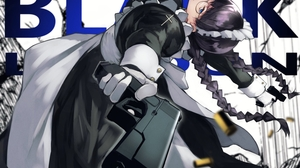 Black Lagoon Roberta Black Hair Weapon Gun Glasses Maid Blue Eyes Yoshi55level 1500x1061 wallpaper