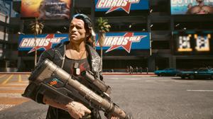 Arnold Schwarzenegger Cyberpunk 2077 Photoshop Cyberpunk Video Games Weapon Car Dogtag 2560x1440 Wallpaper