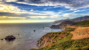Coastline Horizon Nature Ocean Sky 2048x1365 Wallpaper