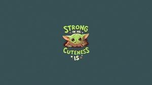 Baby Yoda Minimalist Star Wars Statement 4000x2048 Wallpaper