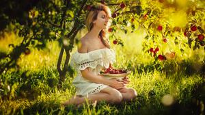 Sunset Apples Trees Women Women Outdoors Outdoors Model Photography Warm Warm Light Depth Of Field B 1800x1199 Wallpaper