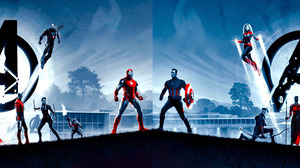 Avengers Avengers Endgame Black Widow Bruce Banner Captain America Captain Marvel Hawkeye Hulkbuster 4851x1688 Wallpaper