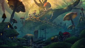 House Mouse Mushroom Turtle 1920x1080 Wallpaper