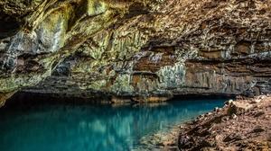 Cave Nature Rock Water 5184x3456 Wallpaper