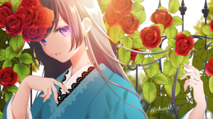 Anime Anime Girls Digital Art Artwork 2D Portrait Sheepd Brunette Purple Eyes Japanese Clothes Kimon 2000x985 Wallpaper