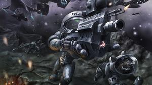 Sci Fi Battle 1920x1080 wallpaper