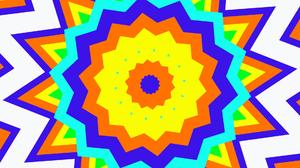 Colorful Digital Art Geometry Shapes 1920x1080 Wallpaper