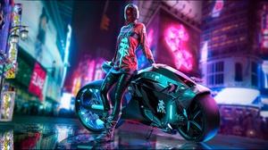 Motorcycle Girl 2000x1080 Wallpaper