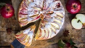 Apple Fruit Pastry Pie Still Life 5184x3456 Wallpaper