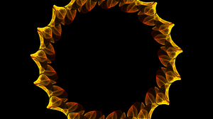Chaoscope Software Circle Flame Fractal Orange Color 1600x1200 Wallpaper