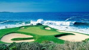 Bunker Golf Golf Course Golf Green Ocean Sport Wave 1920x1440 wallpaper