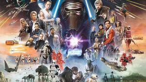Star Wars Skywalker Movies Science Fiction Collage Star Wars Heroes Star Wars Villains 1500x1108 Wallpaper
