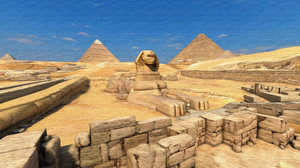 Artistic Pyramid Sphinx 3840x2160 Wallpaper