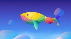 Sky Whale 3840x2366 Wallpaper