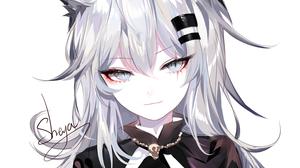 Arknights Anime Girls Anime Sheya Lappland Arknights Animal Ears Wolf Girls Silver Hair Long Hair Gr 1500x1500 Wallpaper