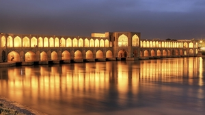 Khaju Bridge Isfahan Iran 2560x1600 Wallpaper
