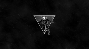 Space Astronaut Triangle Simple 1920x1080 Wallpaper