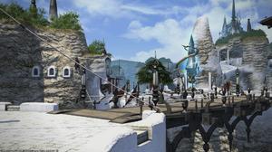 Final Fantasy XiV A Realm Reborn Limsa Lominsa Crystal City Clear Sky 1920x1080 Wallpaper
