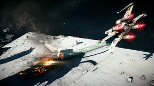 Space Star Destroyer X Wing 1920x1080 Wallpaper