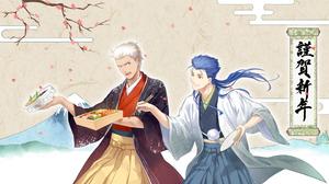 Archer Fate Stay Night Blue Hair Cu Chulainn Emiya Lancer Fate Stay Night 2939x1653 wallpaper