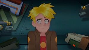 Blonde Blue Eyes Final Space Gary Goodspeed Jacket Man Weapon 2048x1143 Wallpaper