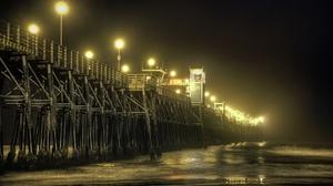 California Fog Beach 5629x3752 wallpaper