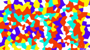 Abstract Blue Colorful Digital Art Geometry Red Shapes White Yellow 1920x1080 Wallpaper