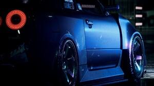 NFS 2015 Need For Speed Nissan Nissan Skyline GT R R34 Blue Cars 3840x2056 Wallpaper