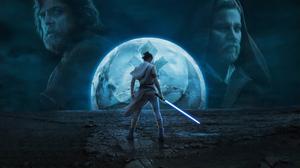 Daisy Ridley Ewan Mcgregor Luke Skywalker Mark Hamill Obi Wan Kenobi Rey Star Wars Star Wars Star Wa 3840x2154 Wallpaper