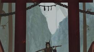 Anime Anime Girls Aoi Ogata Torii Vertical Original Characters Horns Katana 1274x1859 Wallpaper