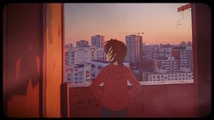 Balcony Evening Golden Time Animeirl 1920x1080 Wallpaper