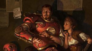Iron Man Man Steampunk Woman 4529x2548 Wallpaper