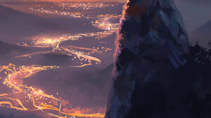 Frederic Hermandsen ArtStation Portrait Display Digital Painting Digital Art City Sky Artwork Alone  3840x4608 Wallpaper