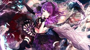 Anime Anime Girls THE IDOLM STER Tanaka Mamimi Horns Purple Hair Purple Eyes Wings 4000x2252 Wallpaper