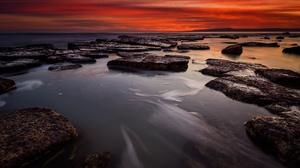 Nature Horizon Sunset Rock Ocean 5569x3735 Wallpaper