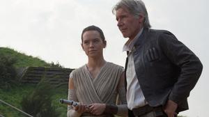 Daisy Ridley Han Solo Harrison Ford Rey Star Wars Star Wars Star Wars Episode Vii The Force Awakens 3000x2000 Wallpaper
