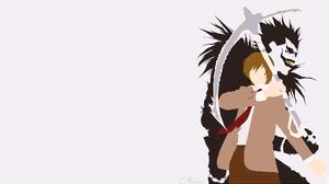 Ryuk Death Note Light Yagami Scythe Weapon Tie Brown Hair Black Hair Minimalist 1920x1080 Wallpaper