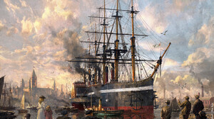 Anno 1800 Boat Painting People Ship Steamboat 1920x1477 wallpaper