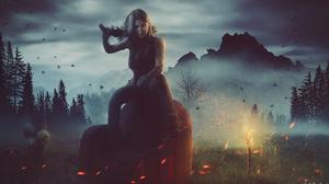 Fantasy Women Warrior 2048x1080 Wallpaper