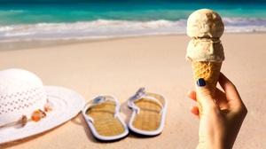 Dessert Hand Hat Summer Sweets Thongs 2690x1438 Wallpaper