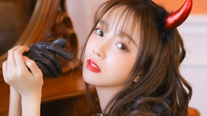 Demon Long Hair Women Fantasy Girl Asian Red Lipstick White Skin 1920x1200 Wallpaper